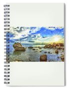 Bansai Rock, Lake Tahoe, Nevada, Panorama Spiral Notebook