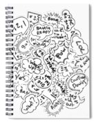 Banter Bubbles From A Comic Creation Spiral Notebook