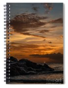 Barbados Sunset Clouds Spiral Notebook