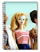 Barbies On Blue Spiral Notebook