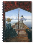 Barge Trip On The Elbe Near Dresden, Morning On The Elbe, 1827 Spiral Notebook