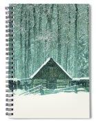 Barn In Snowfall Spiral Notebook