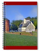 Barn - Silo - Cows Spiral Notebook