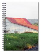 Barn With Red Roof Spiral Notebook