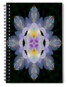 Baroque Fantasy Flowers Ornate Spiral Notebook