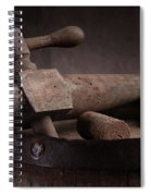 Barrel Tap With Corks Spiral Notebook