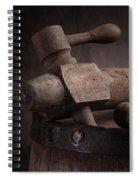 Barrel Tap With Corks Spiral Notebook