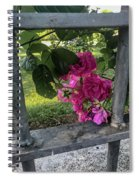 Bars Of Rose Spiral Notebook