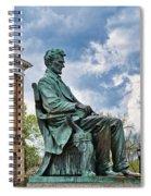 Bascom Hall Lincoln Statue Spiral Notebook