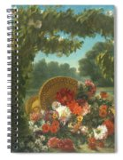 Basket Of Flowers  Spiral Notebook