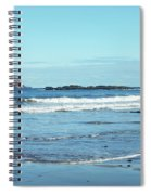 Bass Rock And Beach At North Berwick Spiral Notebook