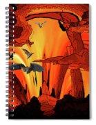 Bat Out Of Spiral Notebook