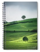 Bathed In Emerald Spiral Notebook