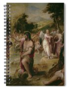 Bautismo De Cristo   Spiral Notebook