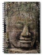 Bayon Faces, Angkor Wat, Cambodia Spiral Notebook