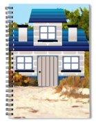 Beach Cottage Spiral Notebook