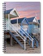 Beach Huts Sunset Spiral Notebook