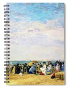 Beach Of Trouville - Digital Remastered Edition Spiral Notebook