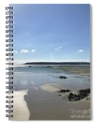 Beach Scene On A Sunny September Afternoon  Spiral Notebook