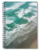 Beach Waves From Above Spiral Notebook