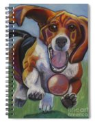 Beagle Chasing Ball Spiral Notebook
