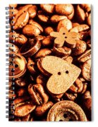 Beans And Buttons Spiral Notebook