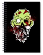Bearded Zombie Undead With Beard Halloween Party Dark Spiral Notebook