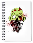 Bearded Zombie Undead With Beard Halloween Party Light Spiral Notebook