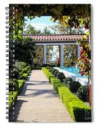 Beautiful Courtyard Getty Villa  Spiral Notebook