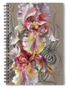 Beautiful Fantastic Realistic Flowers Spiral Notebook