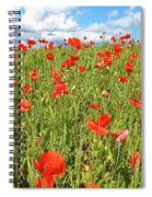 Beautiful Fields Of Red Poppies Spiral Notebook