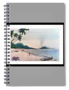 Beautiful Goa Beach Spiral Notebook