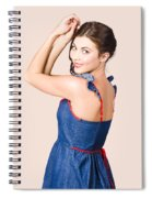 Beautiful Pin Up Woman. Rockabilly Retro Fashion Spiral Notebook