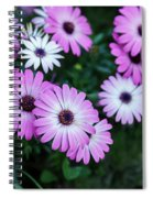 Beautiful Pink Flowers In Grass Spiral Notebook