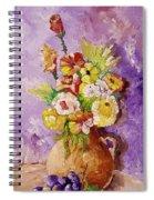 Beauty On Bouquet Spiral Notebook