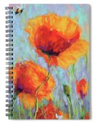 Bees And Poppies Spiral Notebook