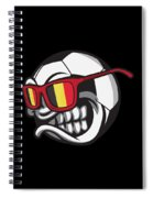 Belgium Angry Soccer Ball With Sunglasses Fanshirt Spiral Notebook
