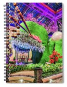 Bellagio Conservatory Spring Display Front Side View Wide 2018 2 To 1 Aspect Ratio Spiral Notebook