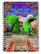 Bellagio Conservatory Spring Display Ultra Wide Trees 2018 Spiral Notebook