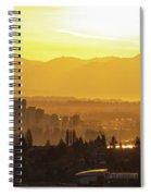 Bellevue Eastside Morning Light Atmosphere Spiral Notebook