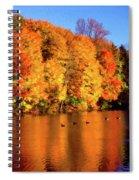 Bernharts Dam Fall 008 Spiral Notebook