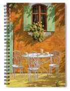 Bianco Su Giallo Spiral Notebook