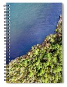 Big Bay Bear Lake Aerial Spiral Notebook