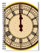 Big Ben Midnight Clock Face Spiral Notebook