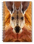 Big Boy Red Kangaroo   Spiral Notebook
