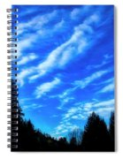 Big Sky And Trees Spiral Notebook