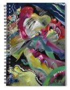 Bild Mit Weissen Linien - Painting With White Lines Spiral Notebook