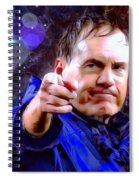 Bill Belichick Spotlight Portrait Spiral Notebook