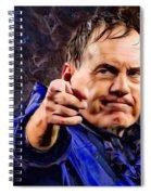 Bill Stephen Belichick Portrait Spiral Notebook