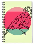 Bird And Sunset Spiral Notebook